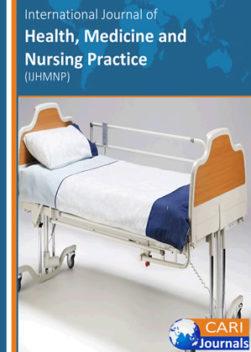 International Journal of Health, Medicine and Nursing Practice